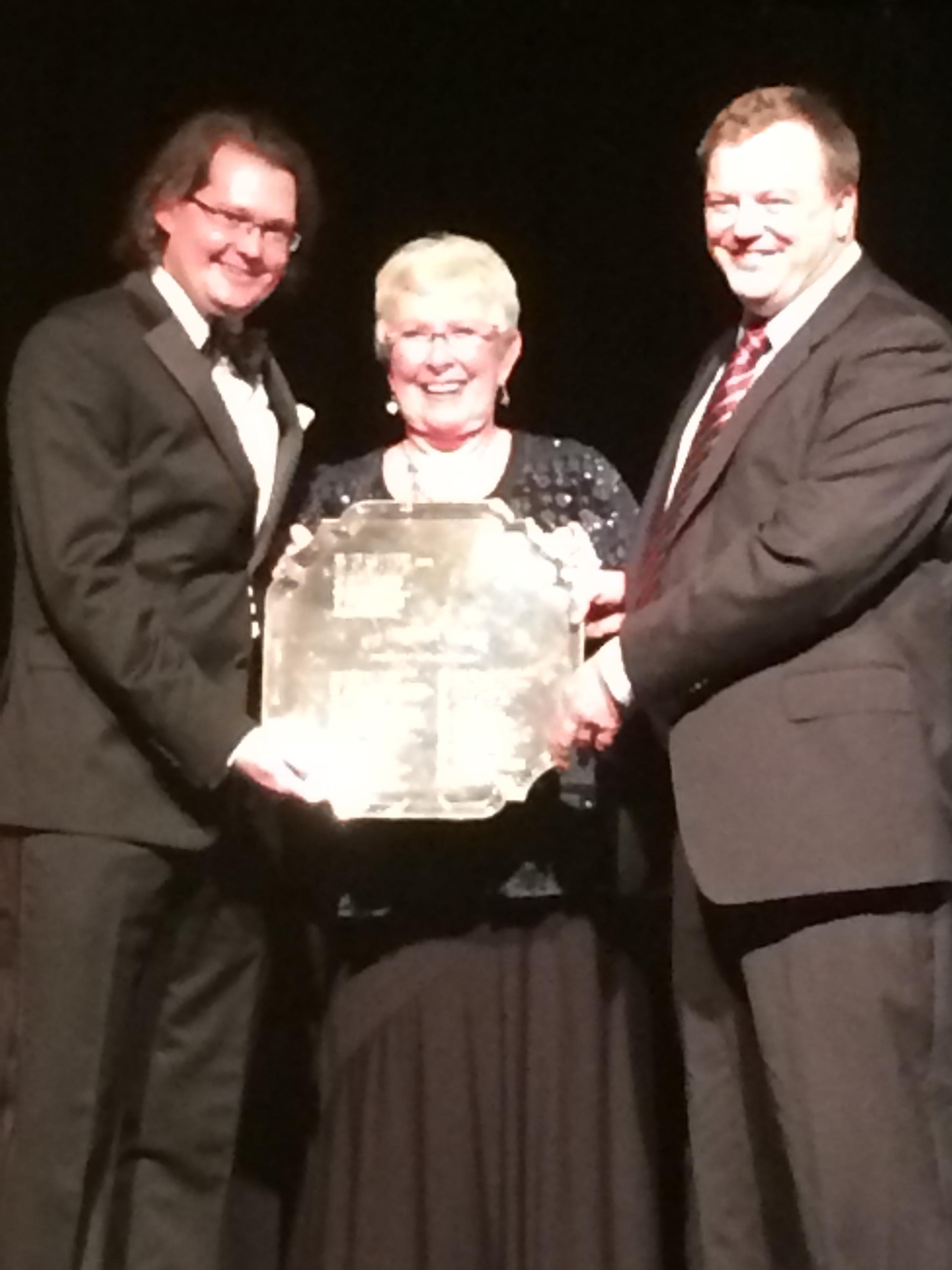 Robert and John Glynn with Phyllis Harlan, ACBL President, Bermuda