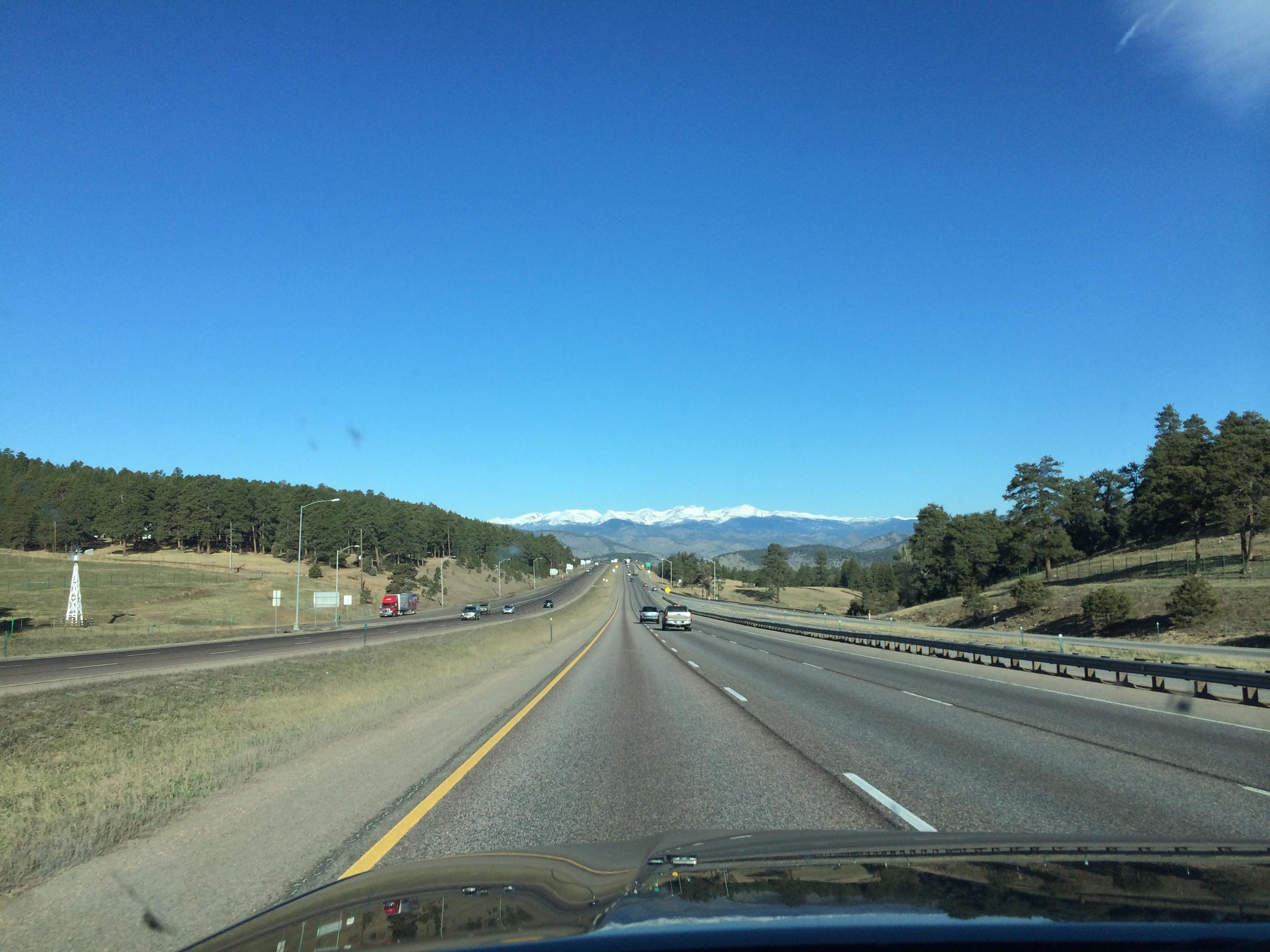 Highway to Glenwood Springs, CO