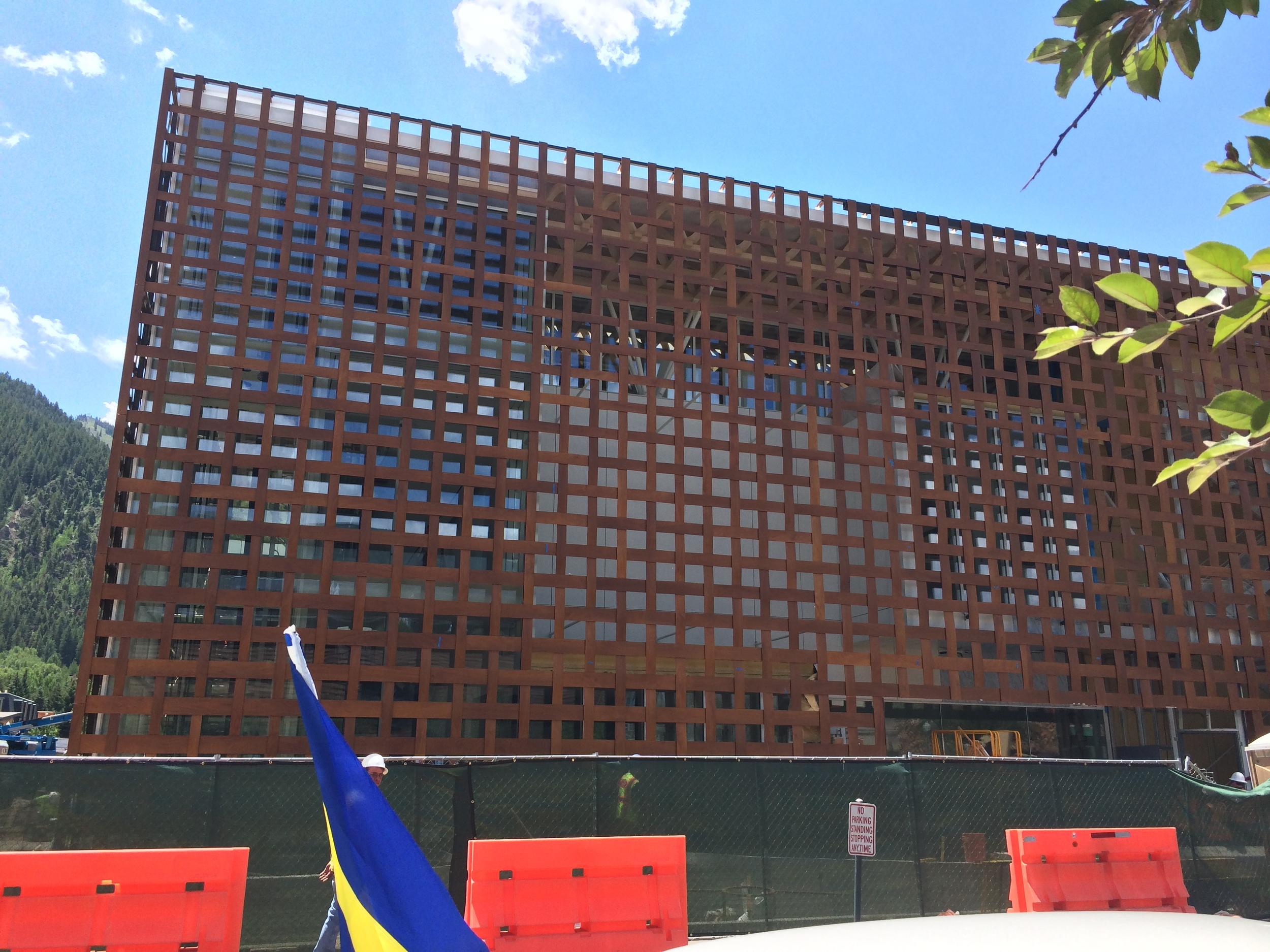 New Art Museum with woven wooden facade, Aspen, CO
