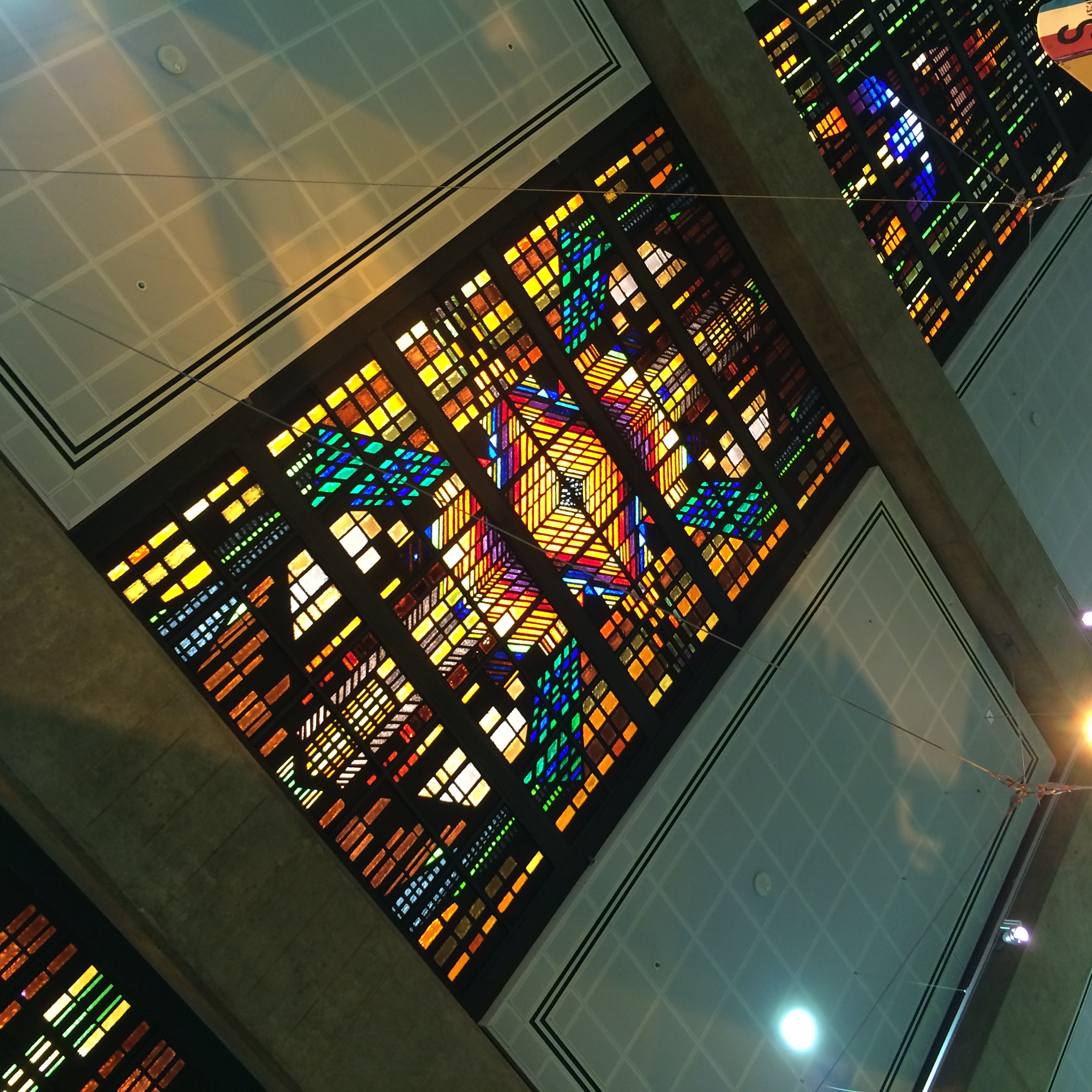 Airport stained glass, Albuquerque, NM