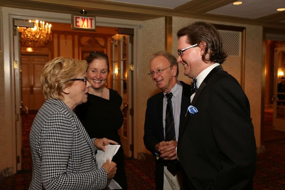 Robert, Theri, and Andy Avery with Audrey Grant at her Hall of Fame induction at the Chicago NABC, Summer 2015