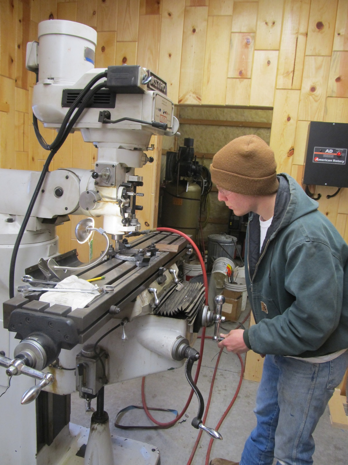 Milling the back of the Ring.JPG