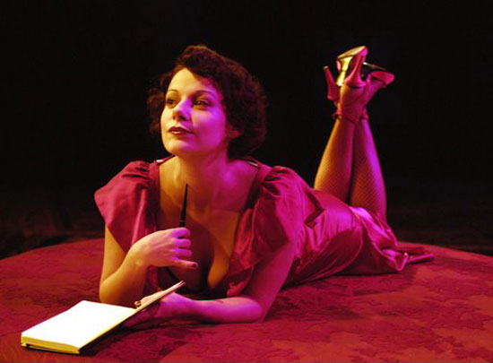 Angela Ingersoll  as Anais Nin (in a Chicago production of The Mistress Cycle)