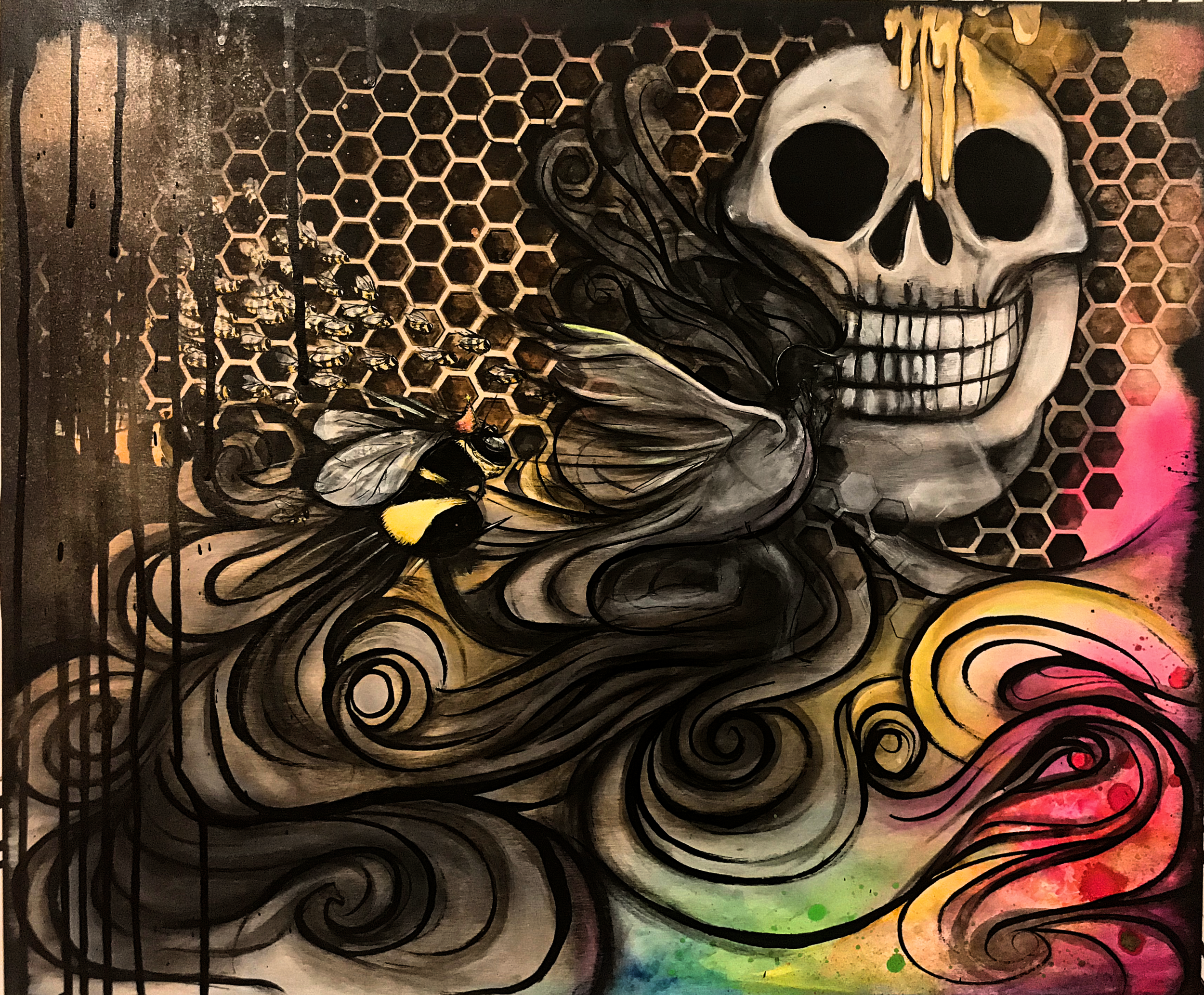 Artwork for collaborative saison between Calle Cimarrona of Costa Rica and KCBC of Brooklyn, NY