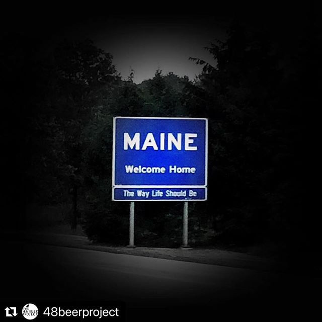 "#Repost @48beerproject with @make_repost ・・・ I was wondering if Paul LePage would take his ""Open for Business"" sign with him...good fucking riddance!! . . ..And HELLLLLLO Maine! Yep. Made the slightly heartbreaking decision to pack up the CRV, and say goodbye to Fearless, at least for a while. Just spent the past three days/2700 miles working on my glutes... 🤡 Amazing to be back in Maine, with my lil ladies! . .  I'll be making the last two collaboration tours from here, and look for an apartment soon as the travel is fin. Booyah! . 🍻 . . #48beerproject #maine #thewaylifeshouldbe #vacationland #beerlabeldesign #artist #art #beer #labelart #brewery #liquidriot #bissellbrothers #boothbaycraftbrewery #novareres #heidigeist"