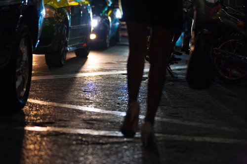 Prostitution in Silom District, Bangkok, Thailand