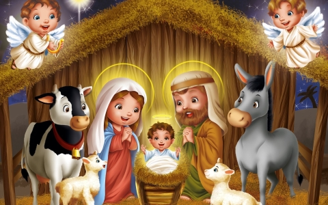 Little baby Jesus wants us to give presents to each other once a year