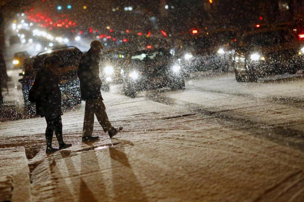 I would pay a LOT of money to be surrounded by snow right now. [Photo: Reuters]