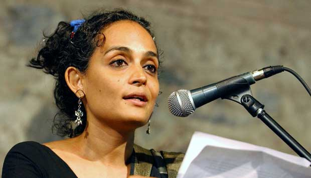 """When Arundhati Roy became famous for her writing, she knew that she could use this privilege for those Indians facing oppression:  """"I knew that I had the stage to say something about what was happening in my country. What is exciting about what I have done since is that writing has become a weapon, some kind of ammunition."""""""