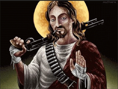 My Jesus would bomb the crap out of those suckers. Wouldn't yours?