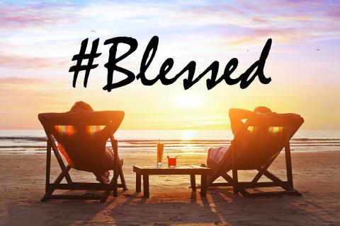 I'm so hashtag blessed. Hashtag poor in spirit!
