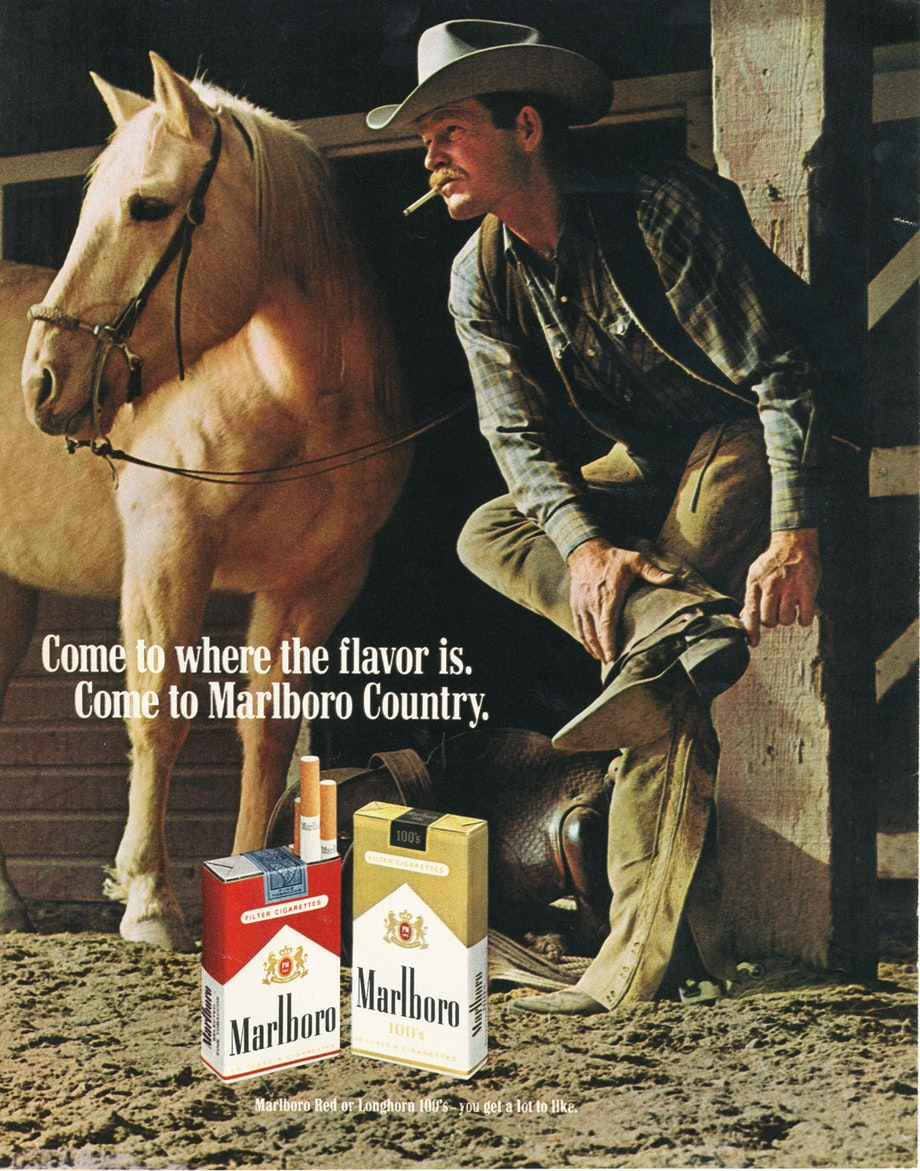 The Marlboro Man - rugged individual, American icon, and handsome lung cancer promoter