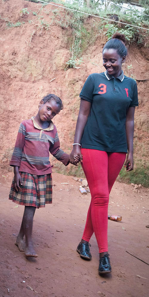 "Patricie in Rwanda explains why she wanted to become an Alongsider,  ""As an Alongsider, it's my responsibility to help others but it is also from a passion that God has put in my heart"". She chose Shukulu as her little sister."