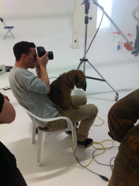 Digby, on set and in-charge.