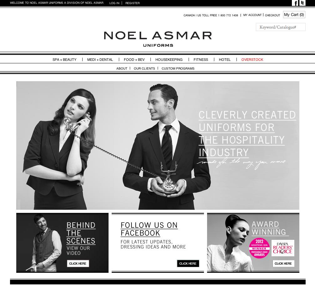 Noel Asmar Uniforms Site.