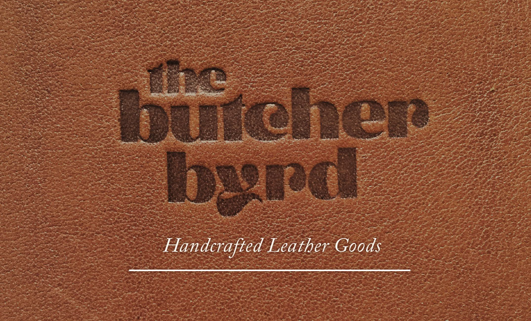 Branding design for leather-goods magician,  The Butcher Byrd