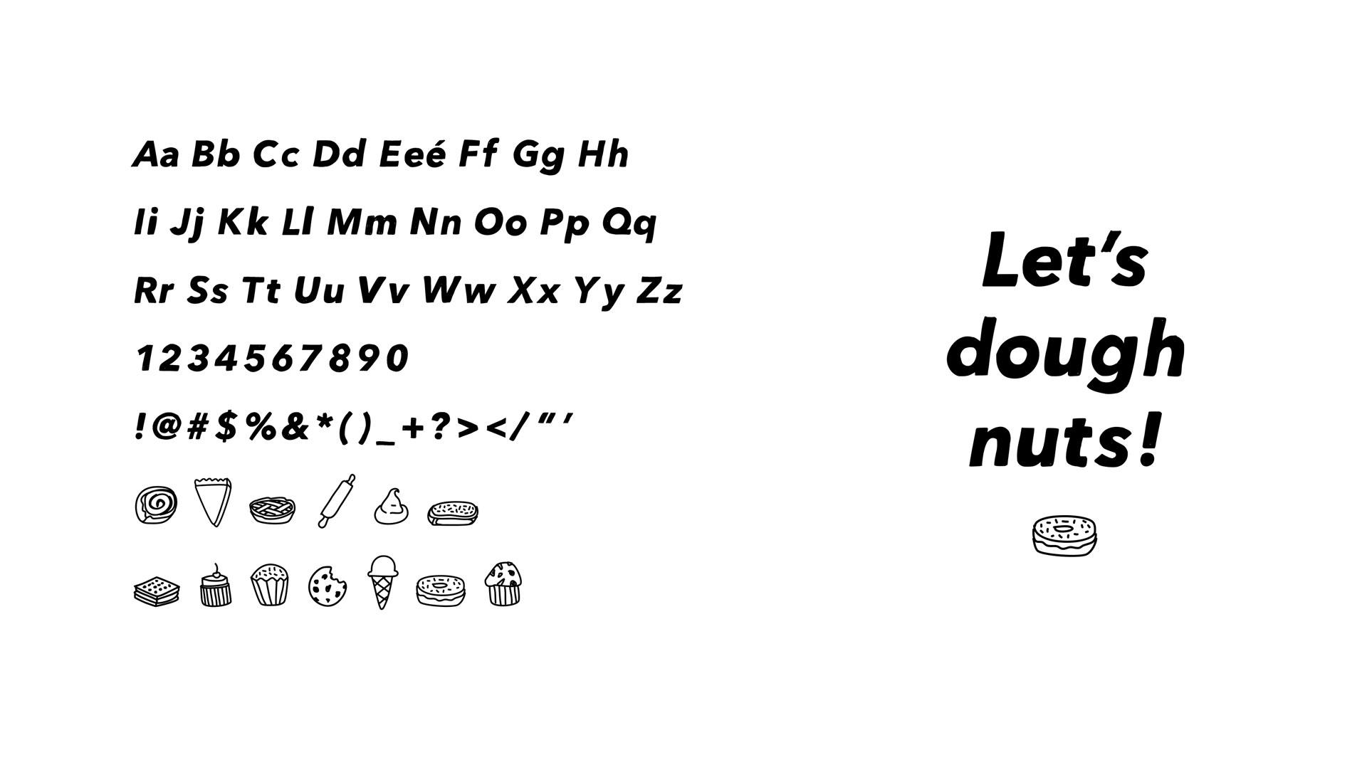 Typeface and icon design, Generation Pie