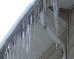 Sign of a potential ice dam.