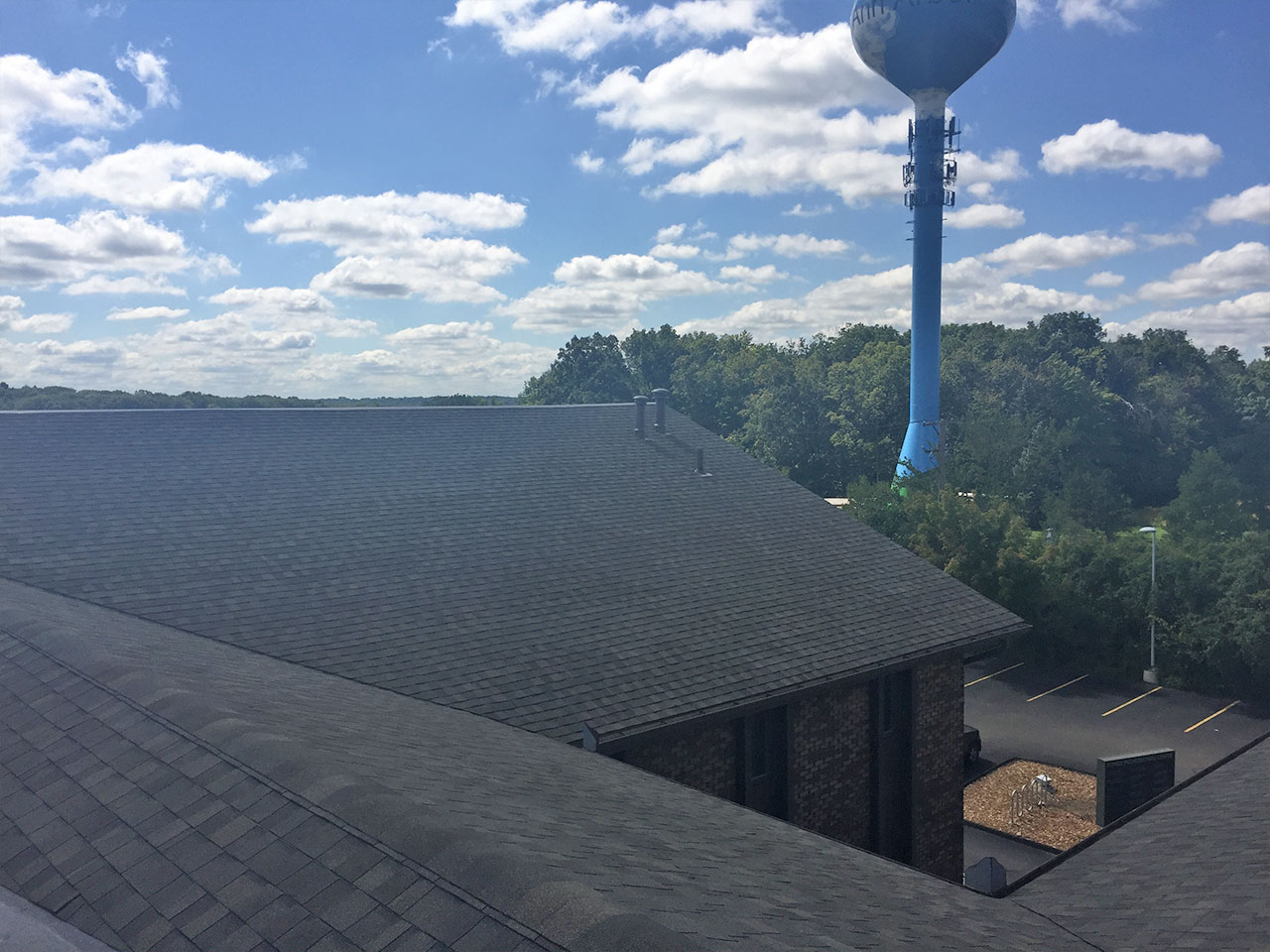 Commercial Roof Replacement On Three Story Office Building