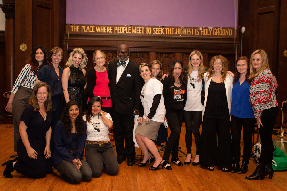 The Cast of  Spare Rib  and friends with Mozhan Marno, Elizabeth Marvel, Lady Rizo, Gloria Steinem, Dr. Willie Parker, Winter Miller,  Adrienne Campbell-Holt, Kate Rigg, Marin Ireland, Deirdre O'Connell, Samantha Bee, Rachel Karpf, Vella Lovell and Diana Oh.