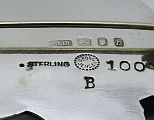 Other marks sometimes appear along side the maker's hallmarks. Often times these are simply duty and import stamps.