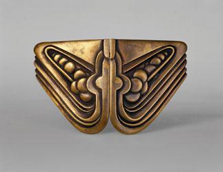 Brass Belt Buckle designed by Siegfried Wagner for Mogens Ballin