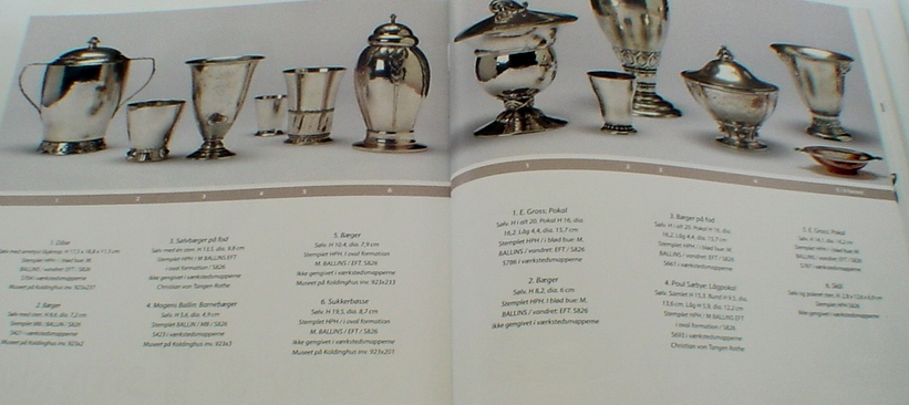 A fine selection of Mogens Ballin hollowware pieces presented in the book on Mogens Ballin released by the Vejen Art Museum