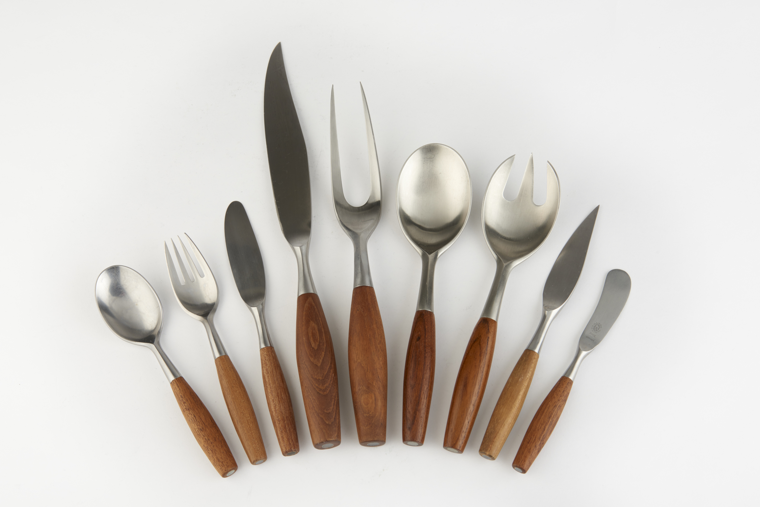The  Fjord flatware set  by Jens Quistgaard. This pattern was the design that started it all. Photos sourced from the Heart Museum website. (links below)