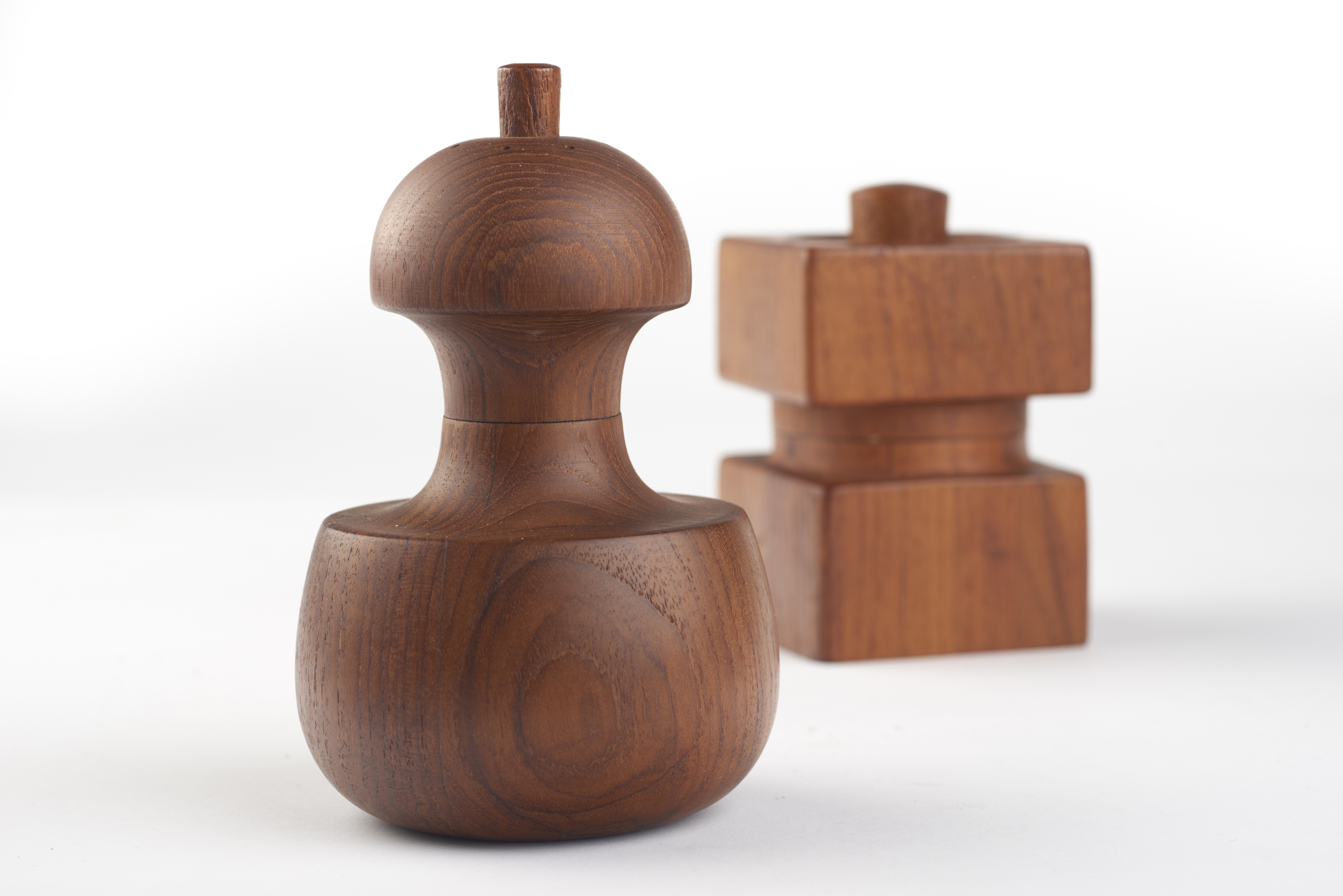 Two examples of Quistgaard's beautiful teak peppermills.  Photo sourced from the Heart Museum website. (links below)