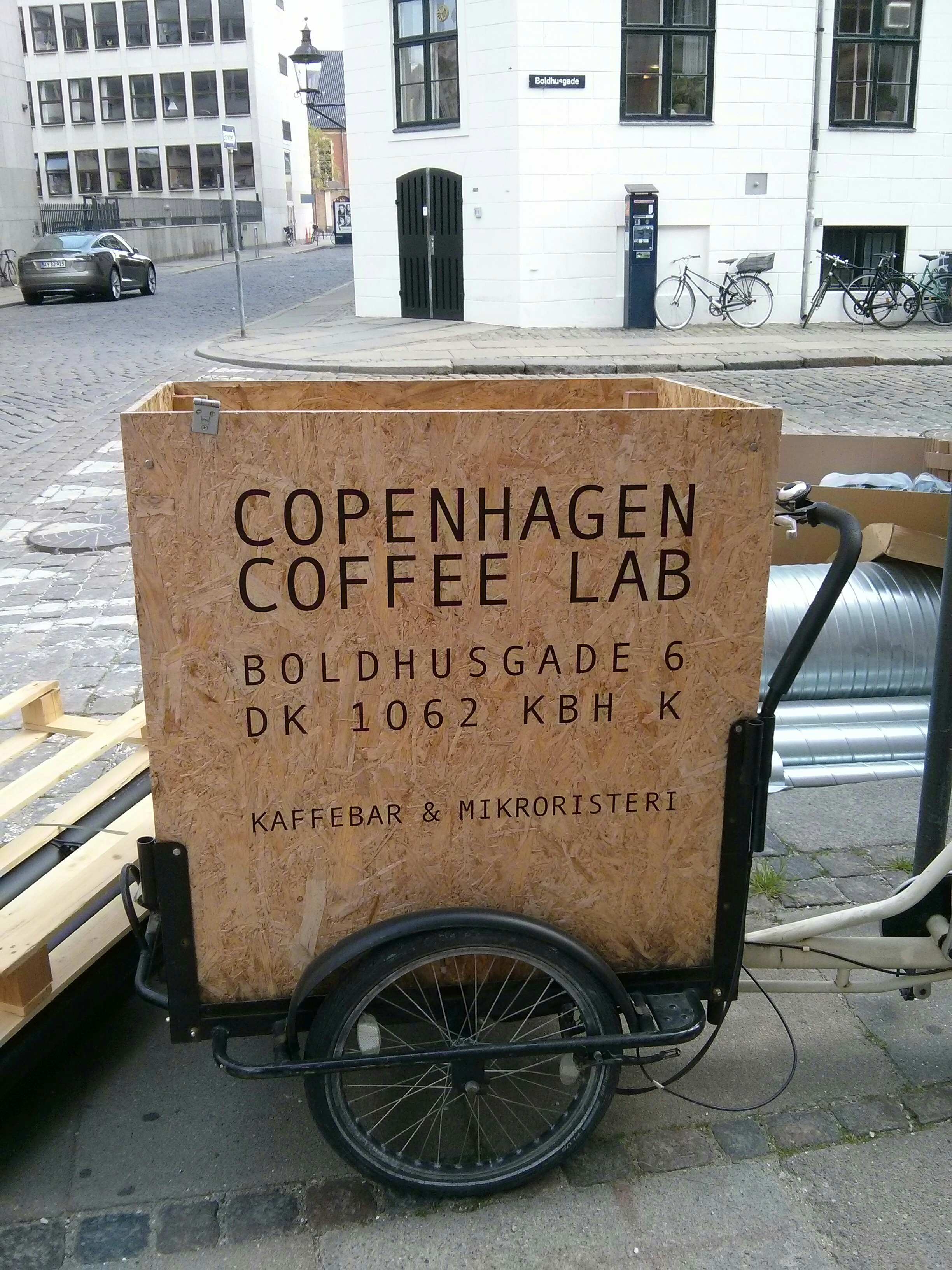 coffee shop on the go in copenhagen.