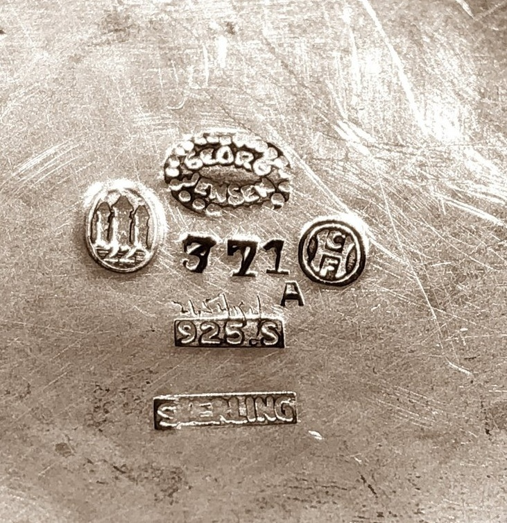 interesting markings of the small cup # 371A,, the 3 towers stand for 830 s, and as well the 925 s and sterling.