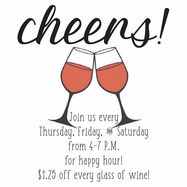 #Repost @foxwinery ・・・ The weekend is right around the corner! Don't forget to put your favorite #winery on your list of places to stop and make sure to join us between 4-7 starting on Thursday to get the #happyhour prices! $1.25 off every glass of wine🍷 . . #foxwinery #galionohio #shoplocal #siplocal #localwine #homegrown #happyhour