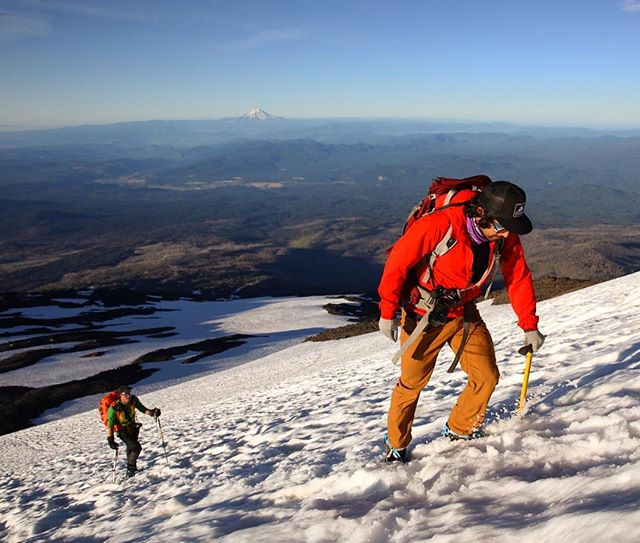 [ Mt. Adams, 8 of 10 ] @adamonthego starting the final 3,000 feet of climbing towards the summit of Mt. Adams. #mtadams #cascades #washington #mountaineering