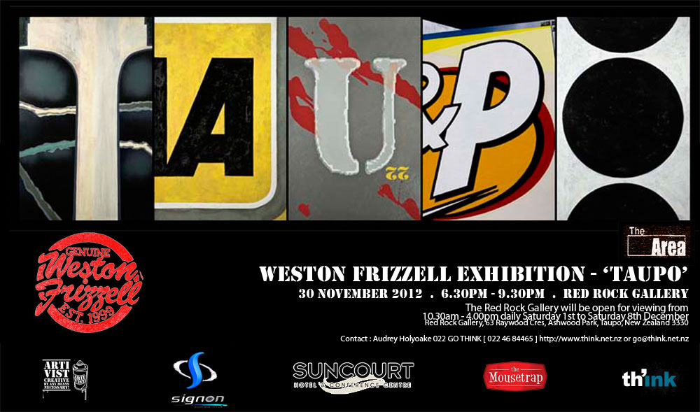 Weston Frizzell Exhibition - 'TAUPO' catalog