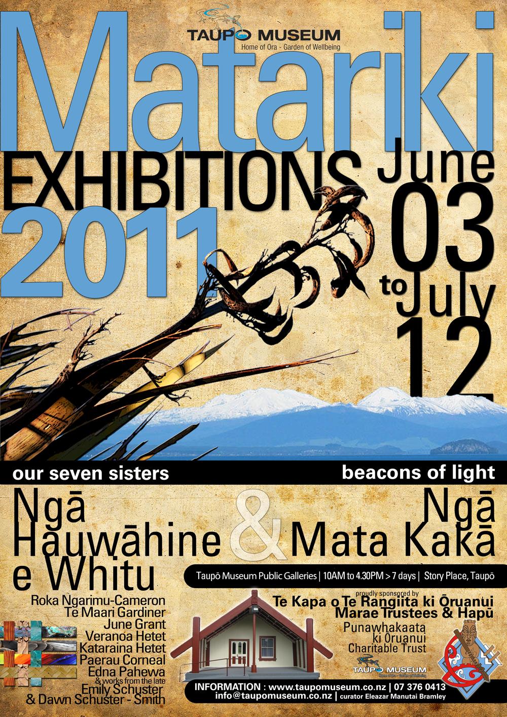 MATARIKI EXHIBITIONS Taupō Museum June 03 to July 12