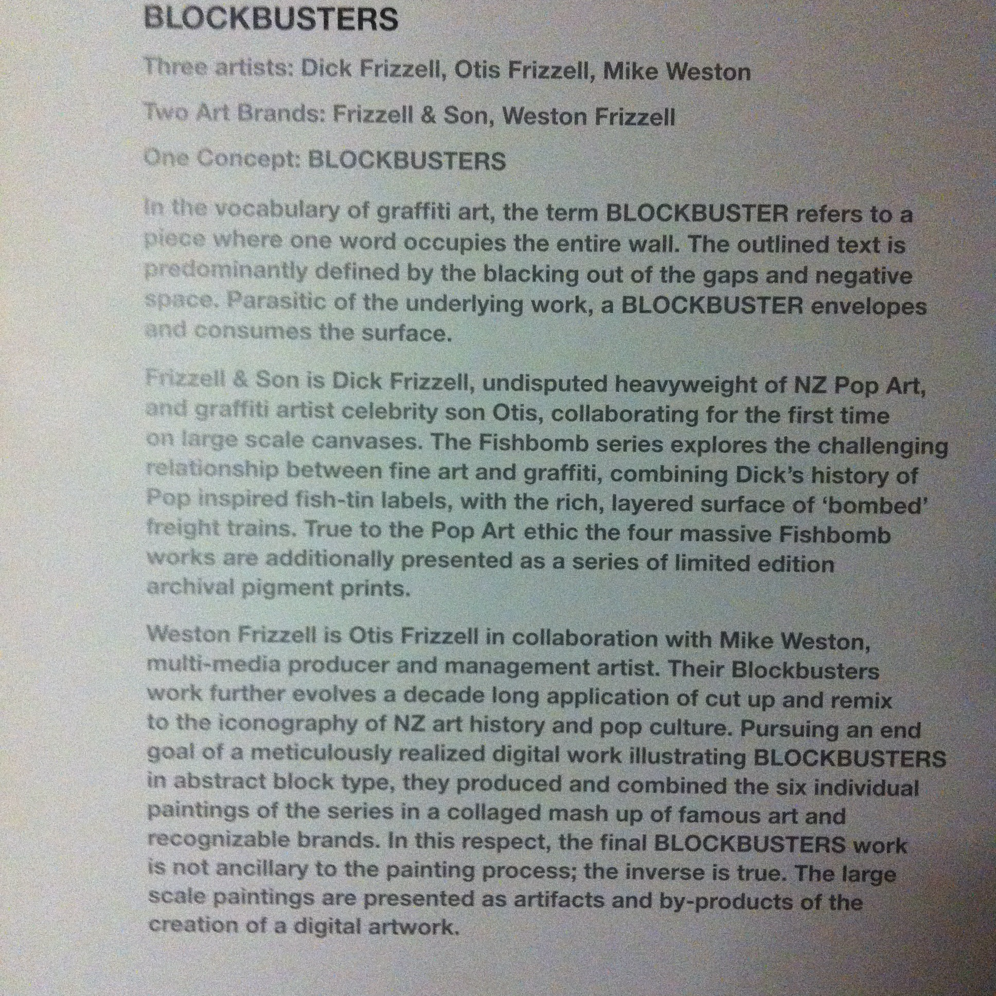 Blockbusters Exhibition << that was then...