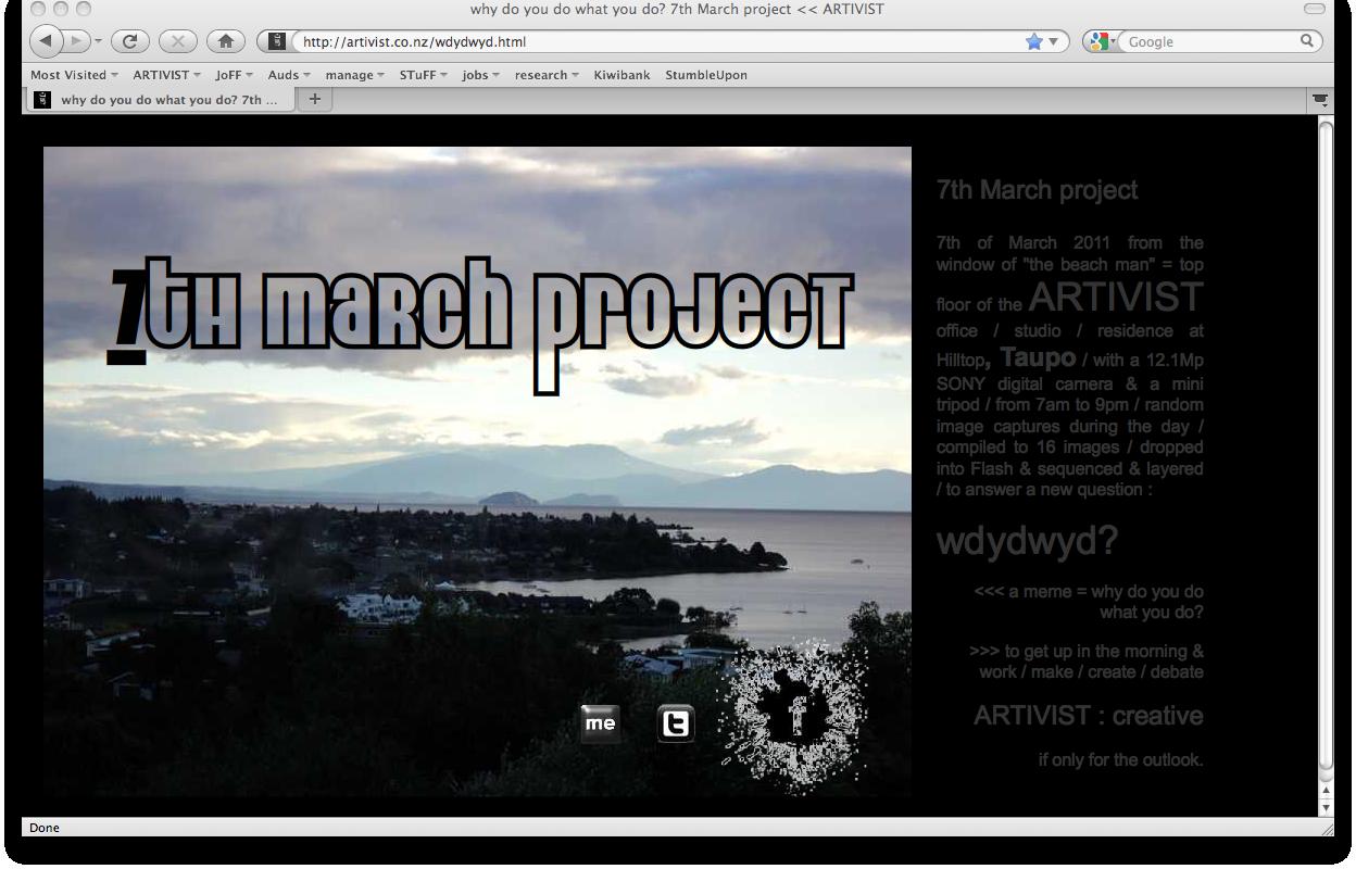 7th March project by ARTIVIST = wdydwyd?