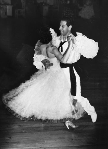 Jimmy James dancing with his future wife, Anne Blewman, Wellington, 1950