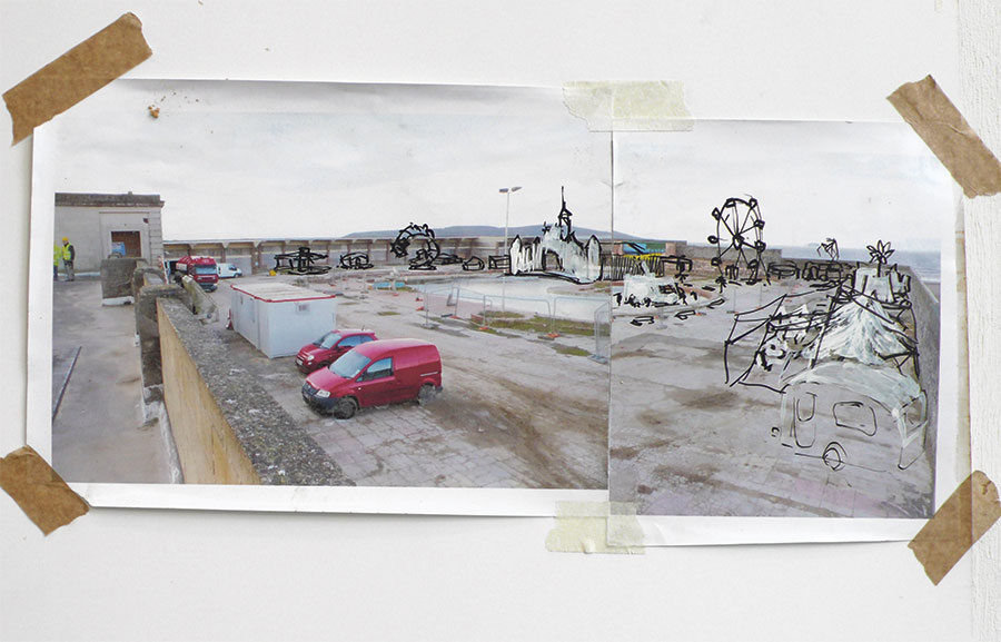 Dismaland is situated on the seafront in legendary Weston-super-Mare and is easily accessible by train, bus and road. Marine Parade BS23 1BE