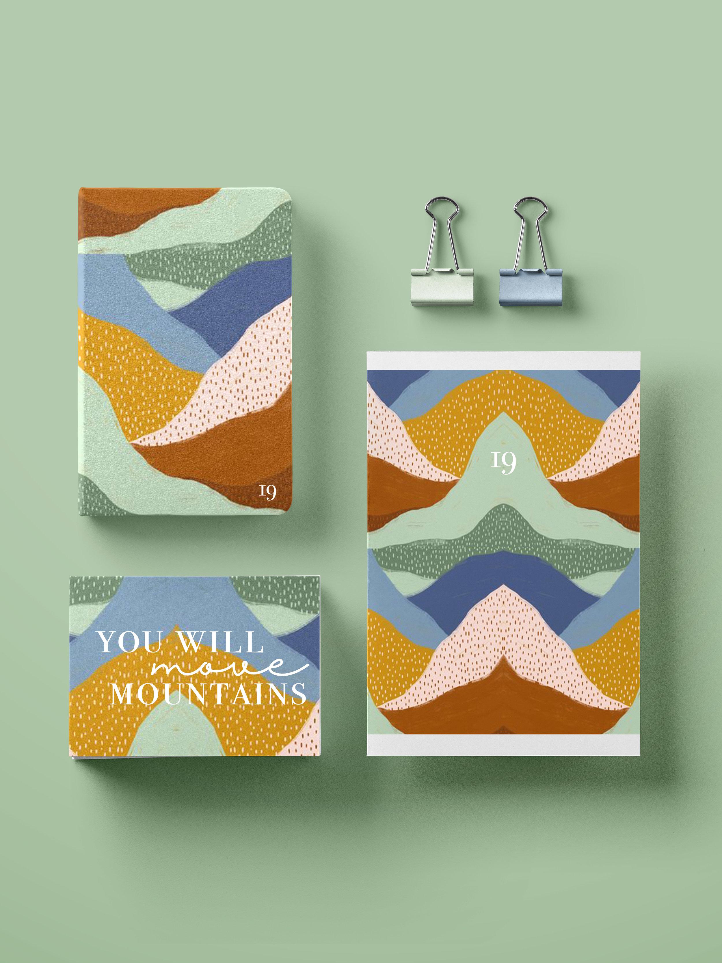 YOU CAN MOVE MOUNTAINS TEXTILE DESIGN