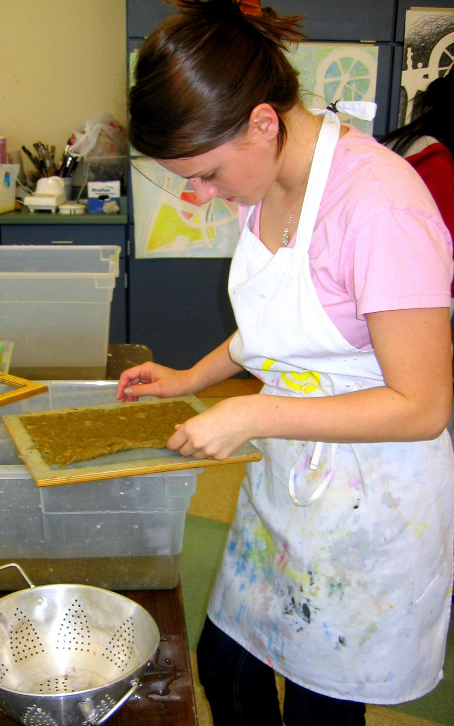 Art Class: Papermaking with Pineapple