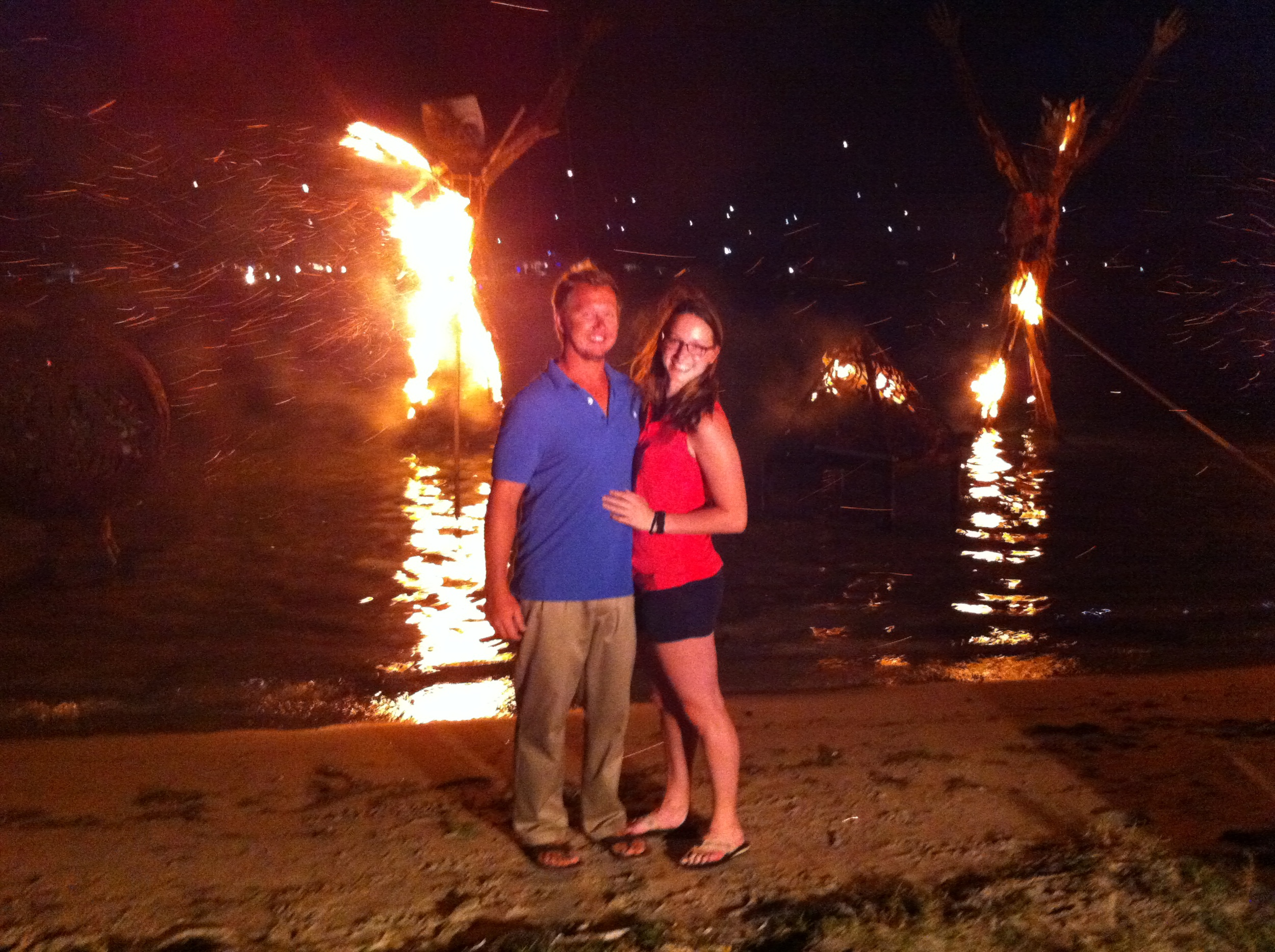 Jonathan and Katherine at the Full Moon Party