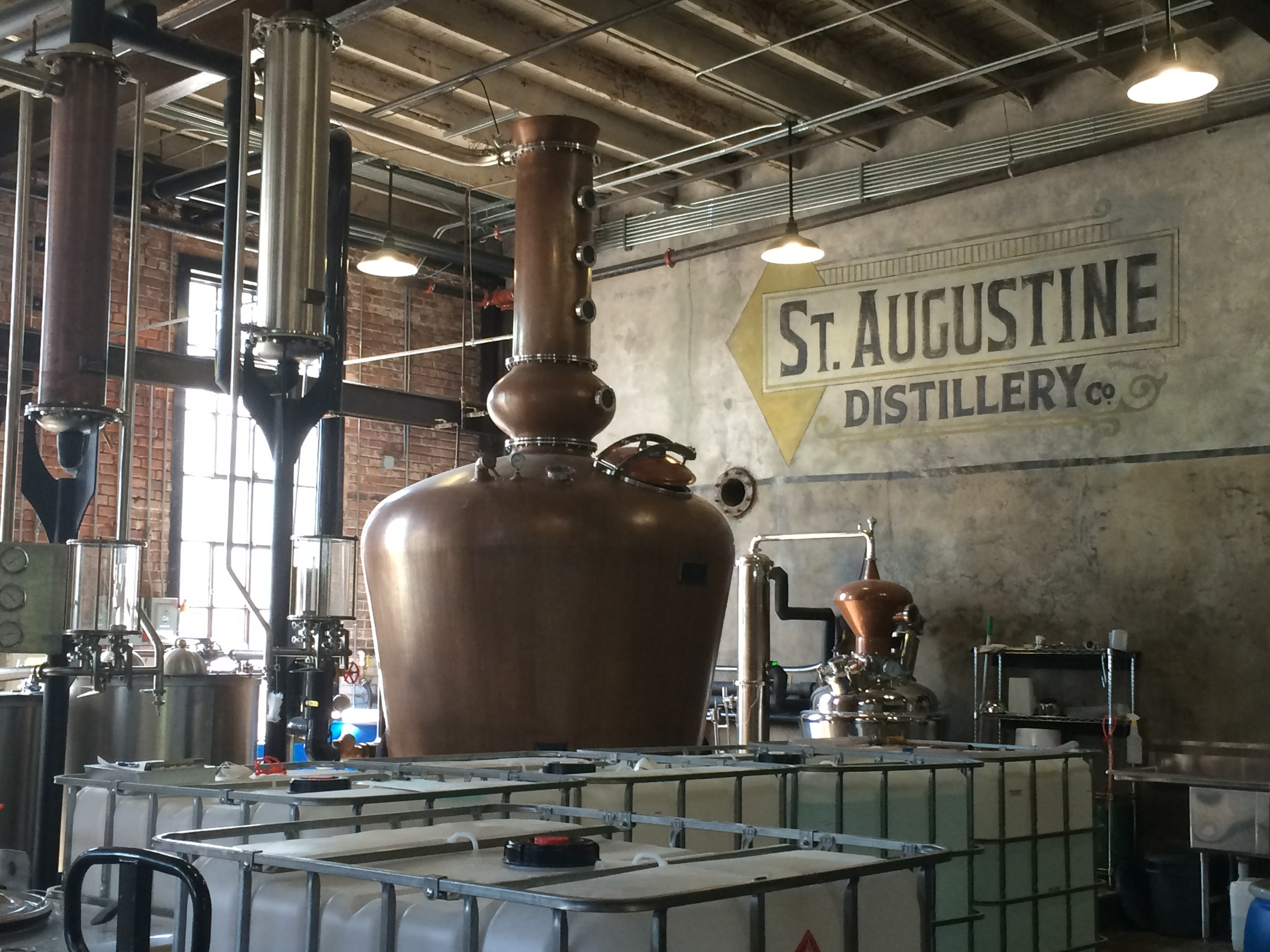 Touring the Distillery