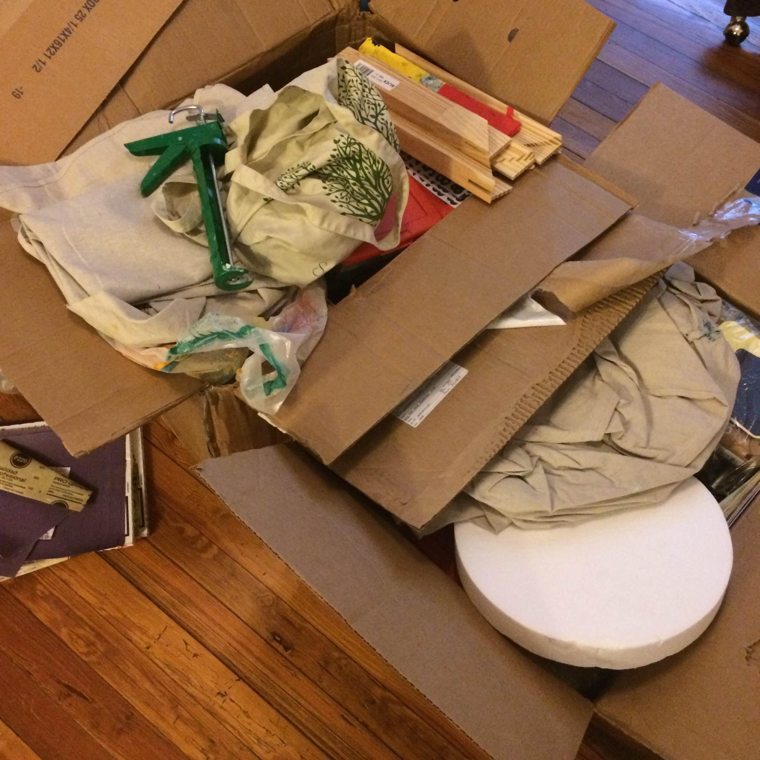 Dad sent TWO BIG BOXES OF ART SUPPLIES FROM HOME!
