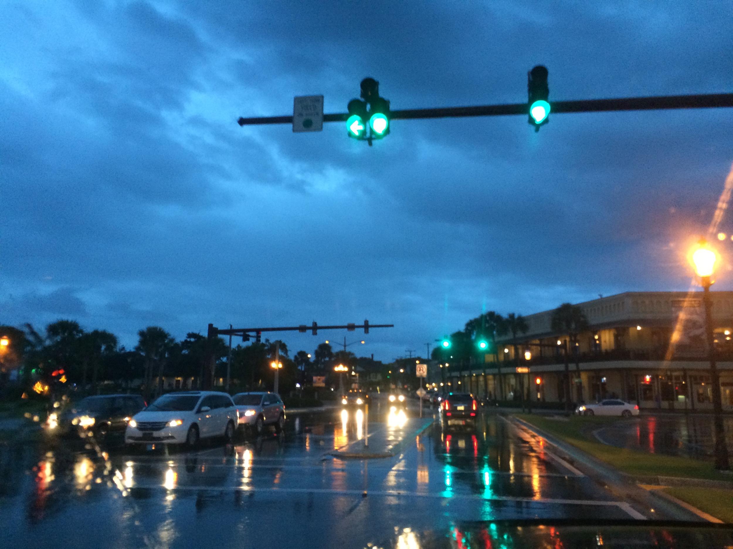 Rainy truck rides around downtown St. Augustine!