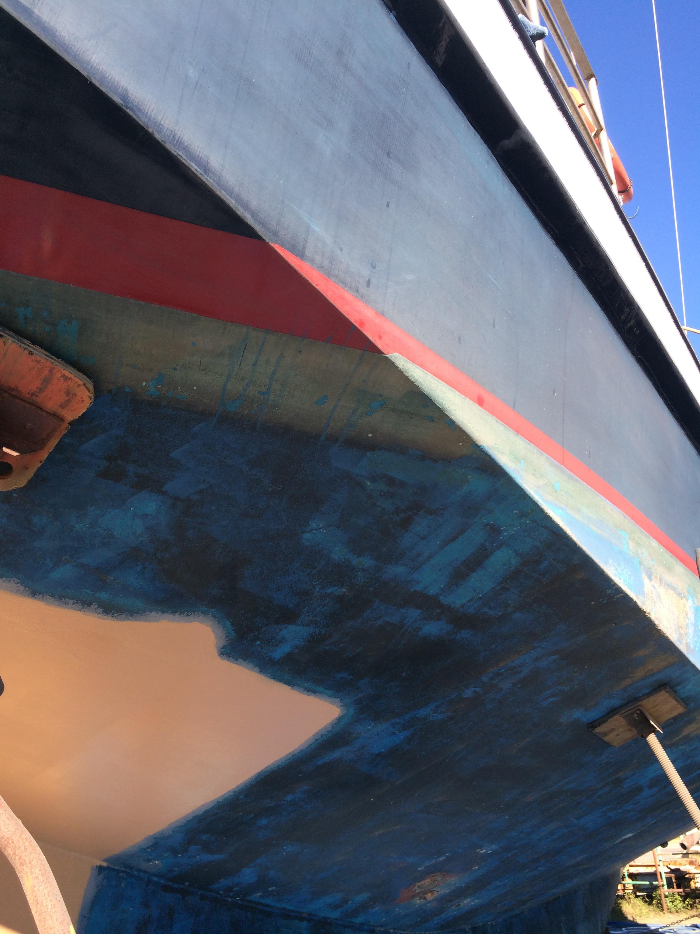 Schooner Freedom in the boatyard