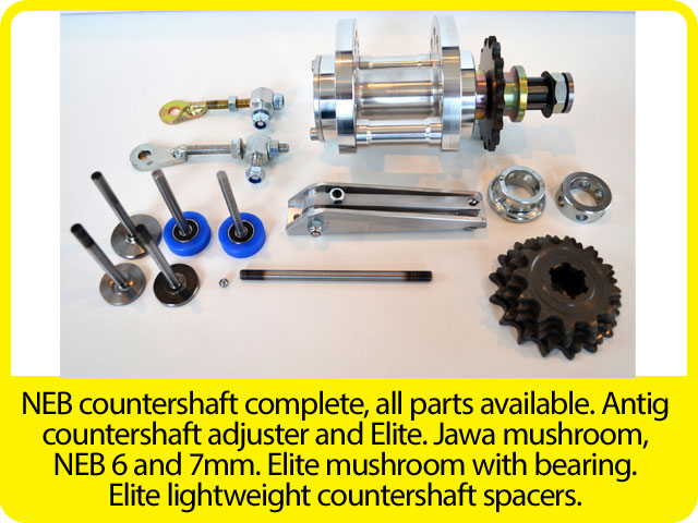NEB-countershaft-complete,-all-parts-available.-Antig-countershaft-adjuster-and-Elite.-Jawa-mushroom,-NEB-6-and-7mm.-Elite-mushroom-with-bearing.-Elite-lightweight-countershaft-spacers..jpg