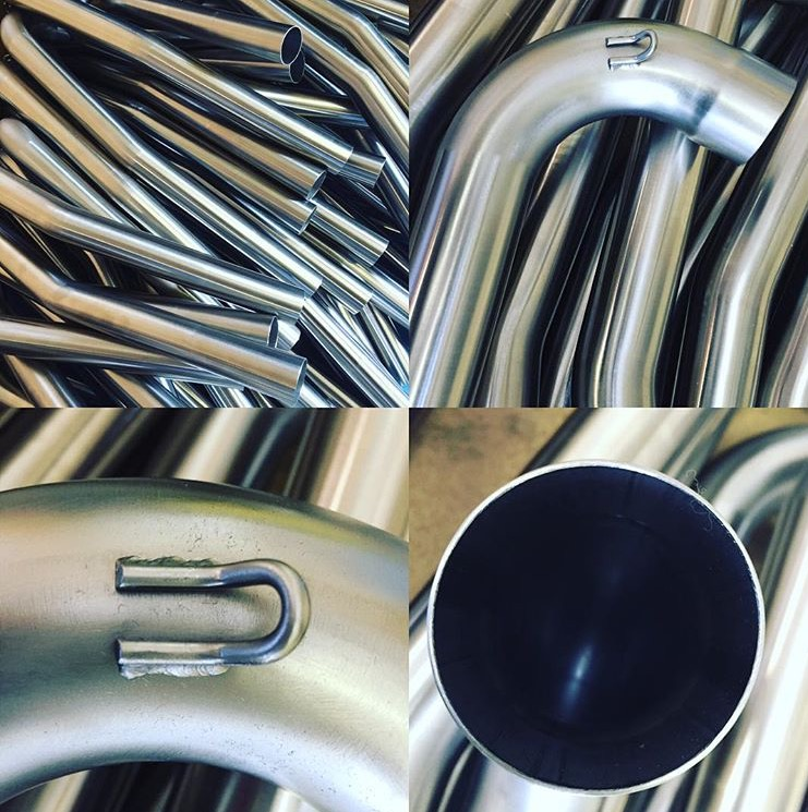 Elite stainless steel exhaust pipe 48mm spigot size G7 shaped