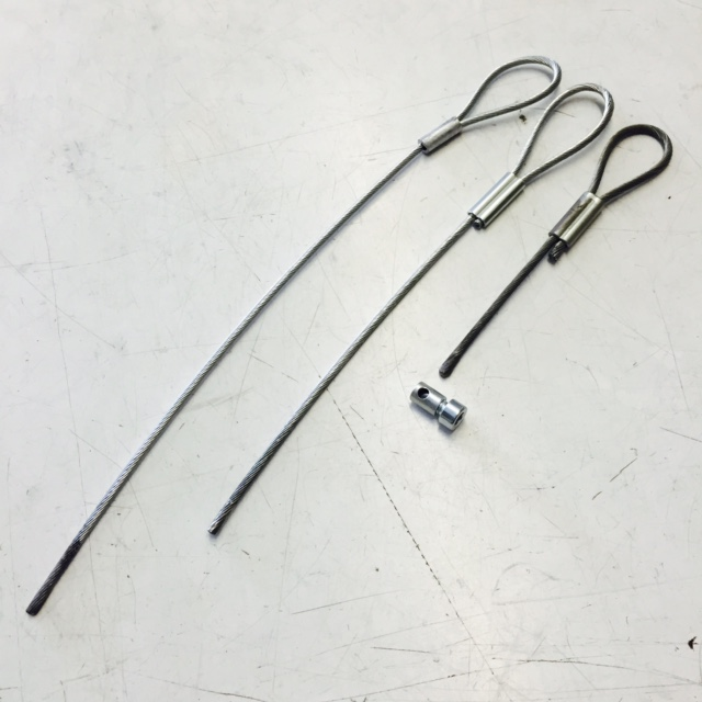 Silencer wire and nipple. 300mm, 240mm, 140mm