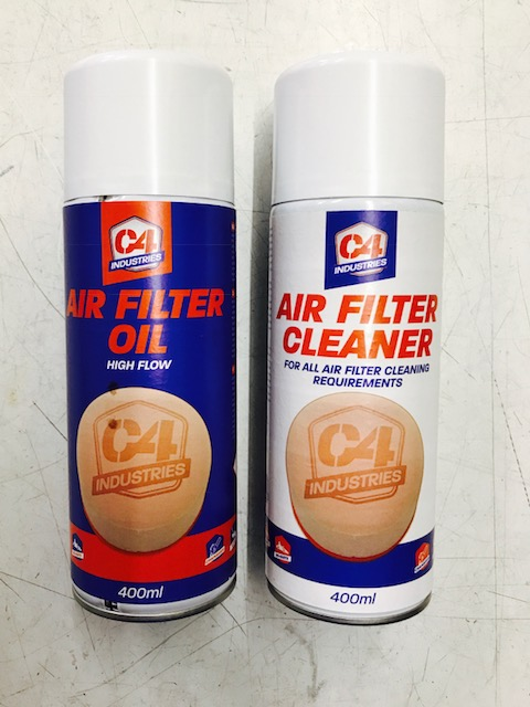 C4 industries filter spray and cleaner